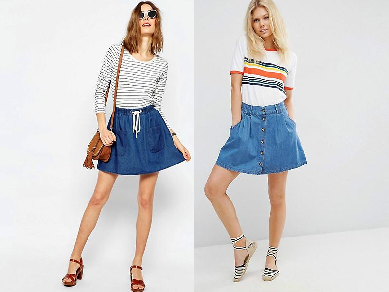 джинсовые юбки солнце короткие
