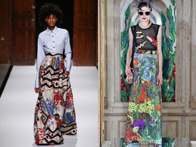 юбки-макси яркие цветные