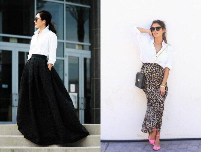 юбки-макси черная широкая в леопардовый принт по фигуре