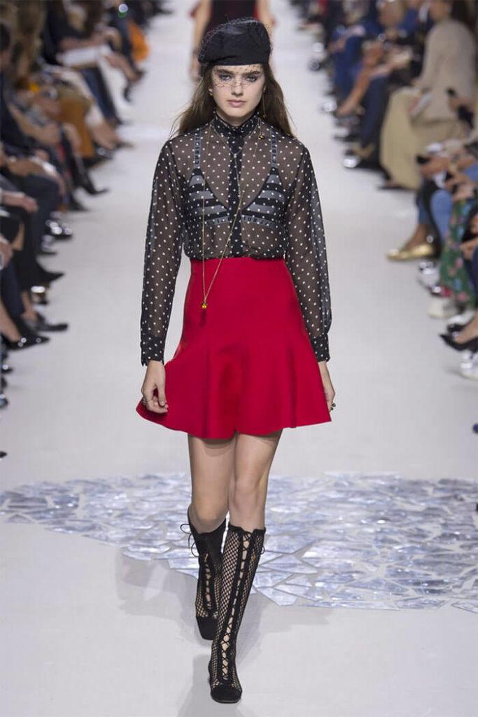 красная юбка с воланами короткая