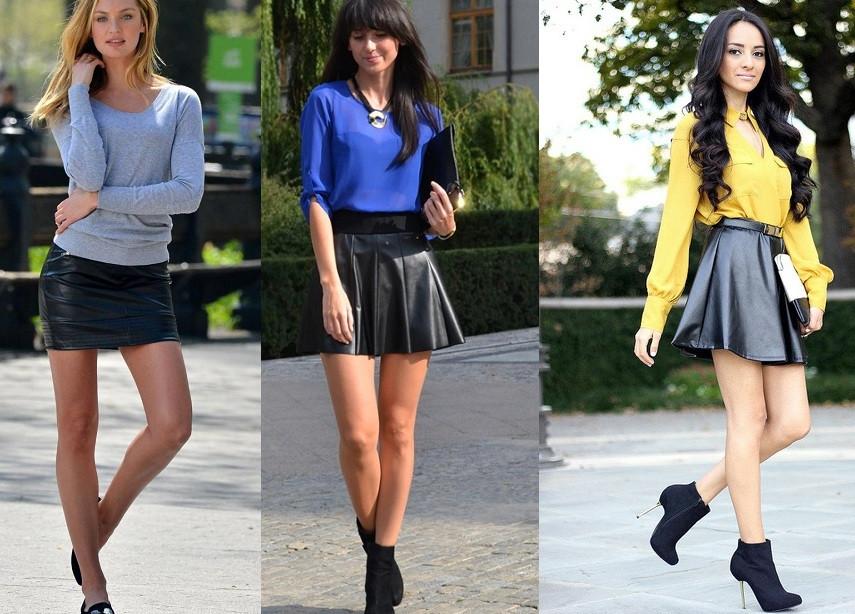 юбки-мини кожаные