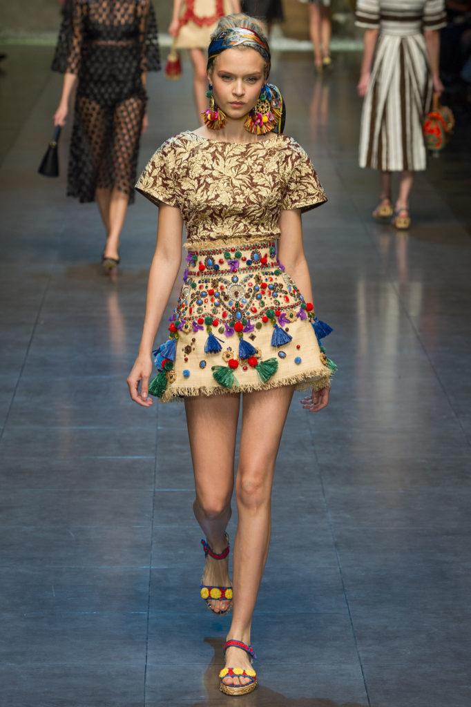 юбка-мини трапеция в принт