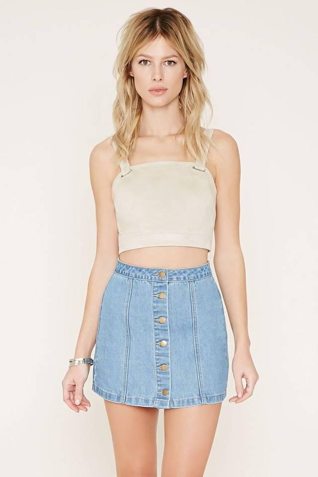 юбка-мини джинсовая голубая