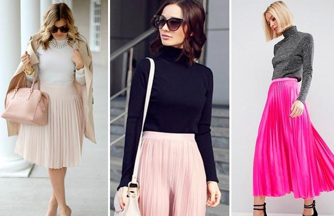 плиссированные юбки персиковая нежно-розовая малиновая