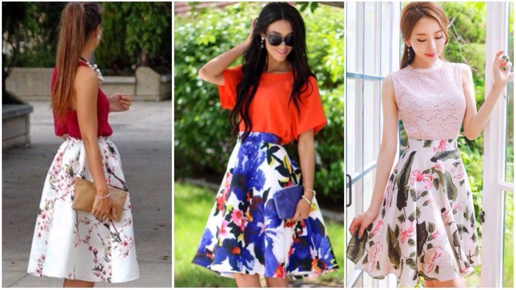 яркие юбки широкие