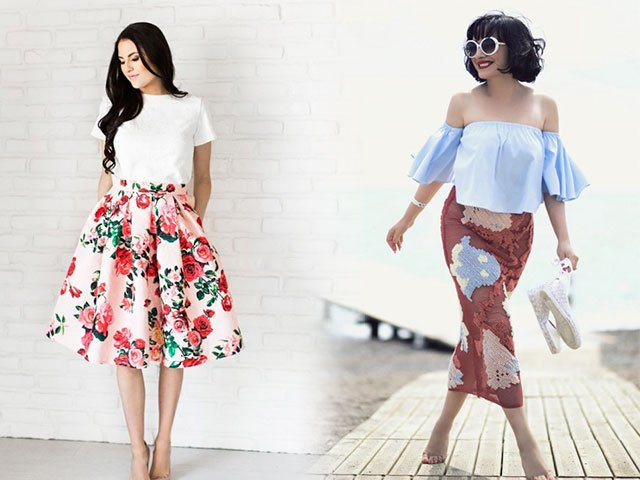 юбка-солнце в цвета юбка по фигуре в принт
