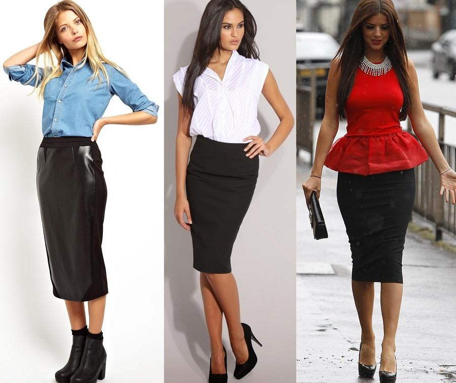 узкая юбка кожаная черная узкие юбки черные по колено