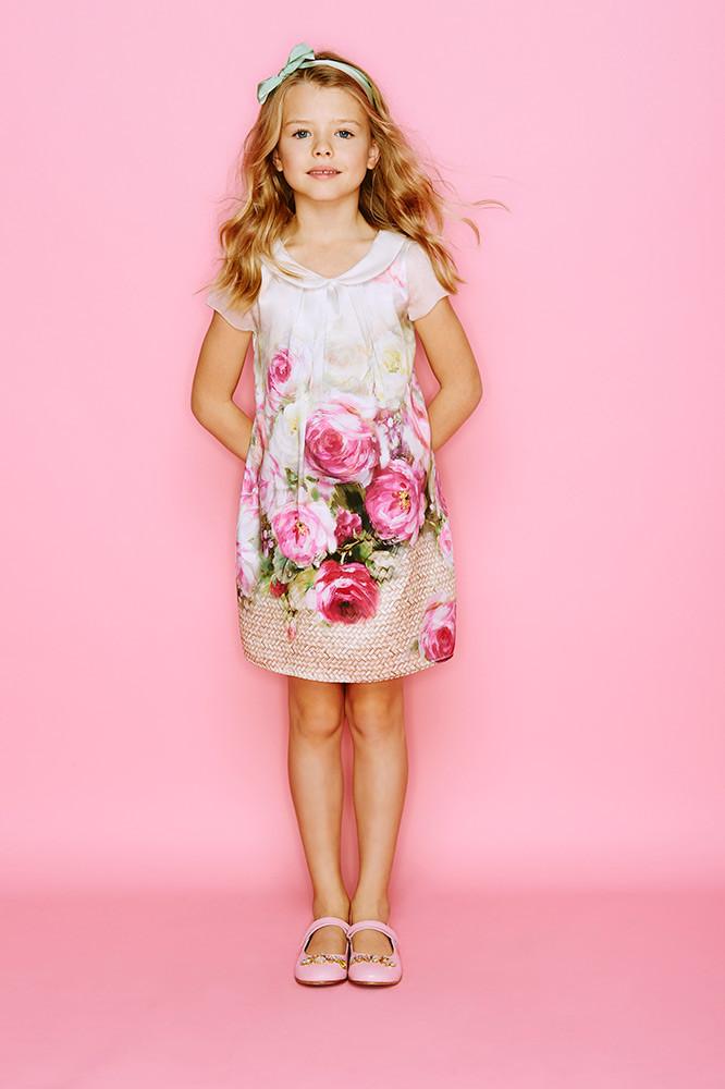 детская мода 2018 - платье летнее в цветы