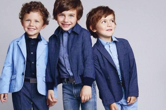 детская мода 2018 - голубой пиджак