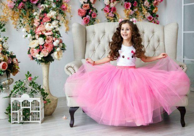 детская мода - розовая юбка-пачка