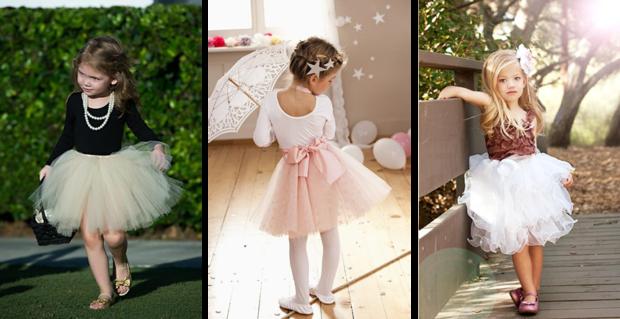 детская мода - светлые юбки-пачка