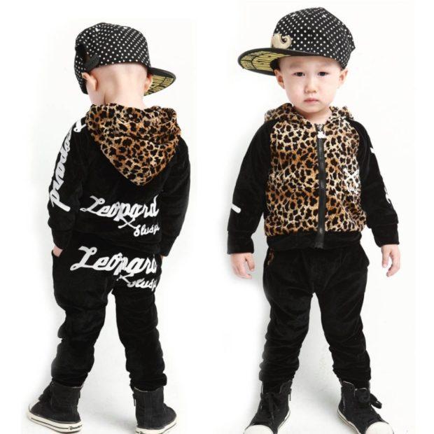 детская мода 2020-2021 - черный спортивный костюм