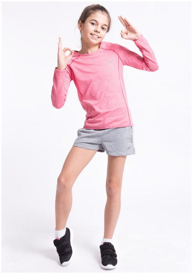 детская мода - лонгслив розовый