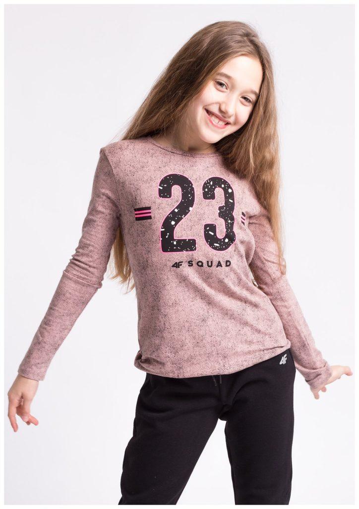детская мода - лонгслив розовый с цифрами