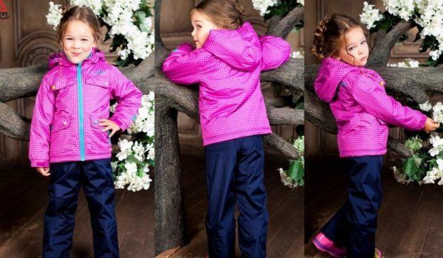 детская мода - куртка спортивная малиновая
