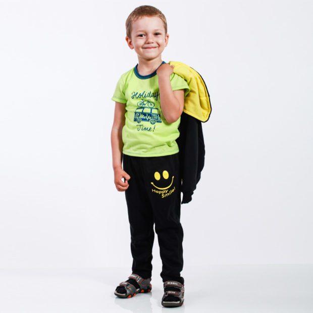 детская мода - спортивный костюм черный для мальчиков