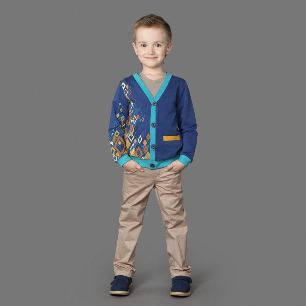 детская мода - штаны бежевые для мальчиков