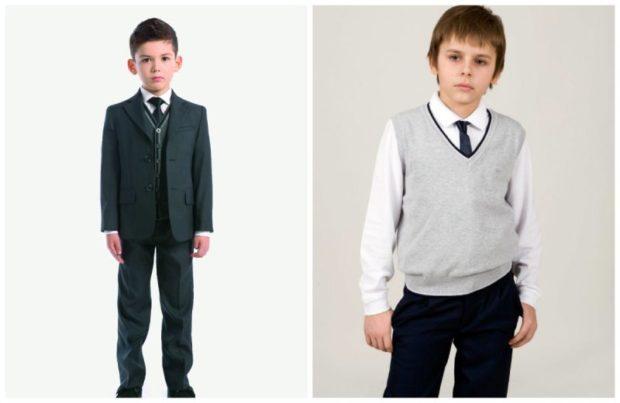 детская мода - костюм брючный черный для мальчиков