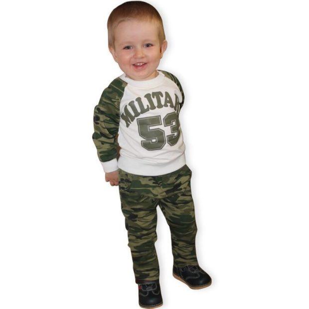 детская мода - спортивный комплект камуфляжный для мальчиков