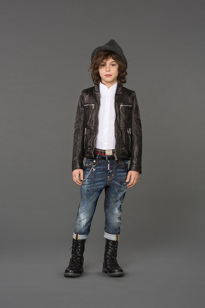 детская мода 2018 - синие джинсы