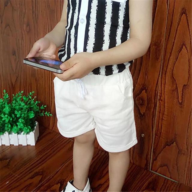 белые шорты по колено для мальчиков