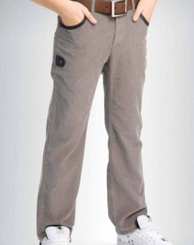 серые вельветовые брюки для мальчиков