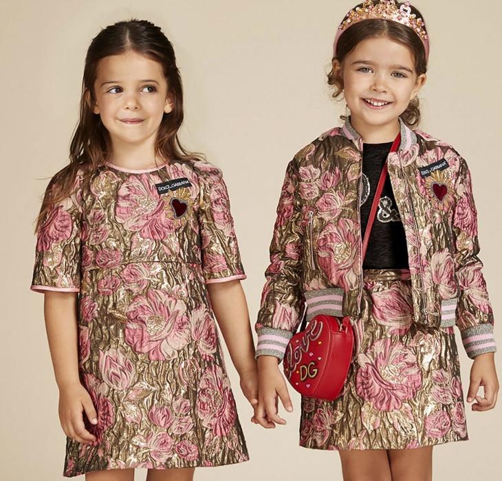 яркое платье в цветы детская мода весна 2018
