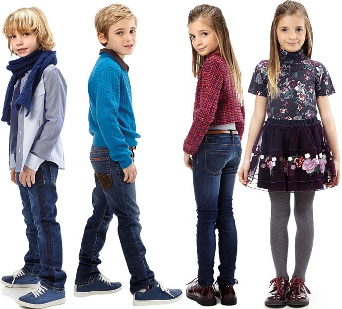 серая рубашка под синие джинсы детская мода весна 2018