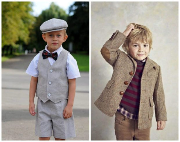детская мода 2019-2020 - серые шорты и жилетка