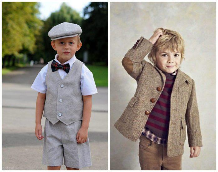 детская мода 2018 - серые шорты и жилетка