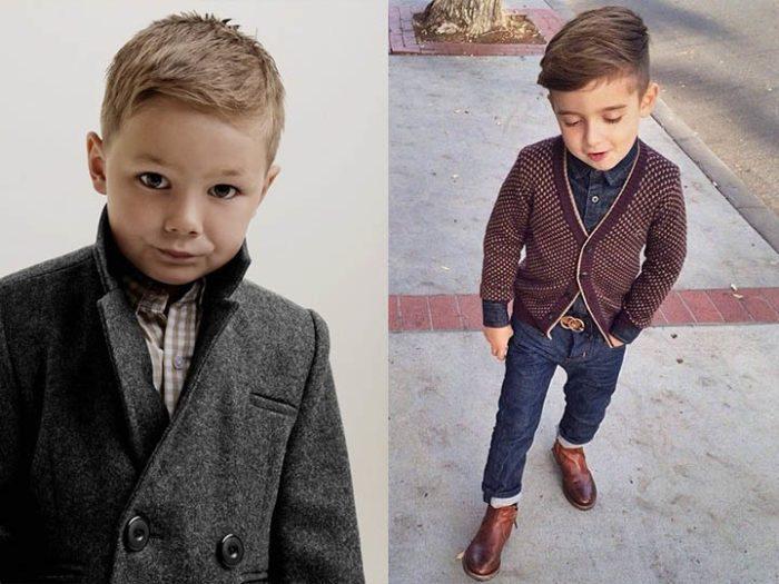серое пальто детская мода осень 2018