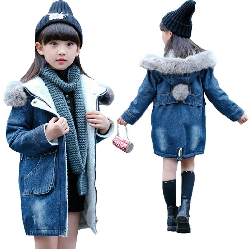 джинсовое пальто с мехом детская мода осень 2018