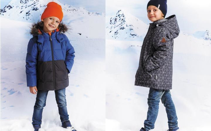 пуховик синий детская мода зима 2018
