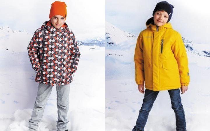 пуховик в ромбы желтый детская мода зима 2018