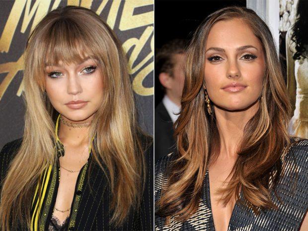 женские стрижки 2019-2020: лесенка на длинные волосы с ровной челкой