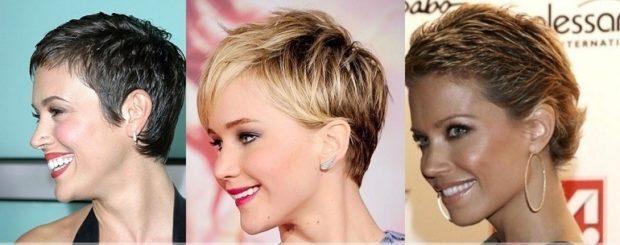 женская стрижка: гарсон на короткие волосы с короткой челкой