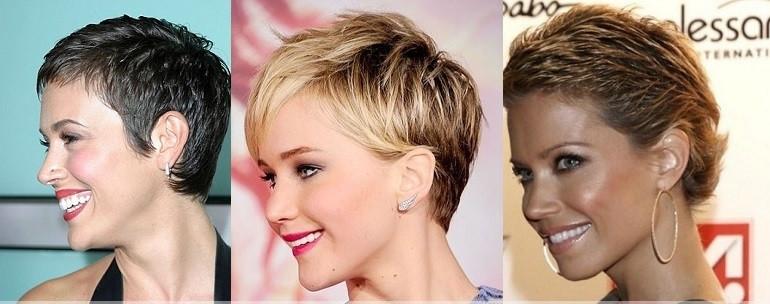 женская стрижка гарсон на короткие волосы с короткой челкой