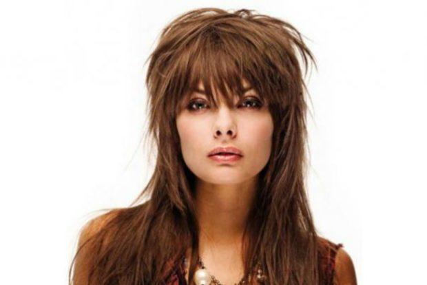 женские стрижки: рапсодия на длинные волосы с рваной челкой
