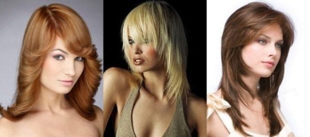 женские стрижки: рапсодия на среднюю длины волос без челки