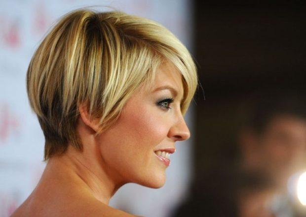 женские стрижки: дебют на короткие волосы с косой челкой