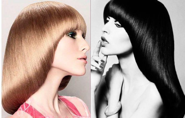 женская прическа: паж на длинные волосы