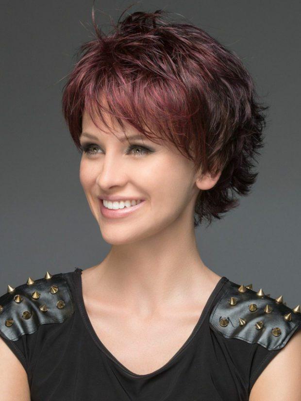 женские стрижки 2019-2020: аврора на короткие волосы с косой челкой