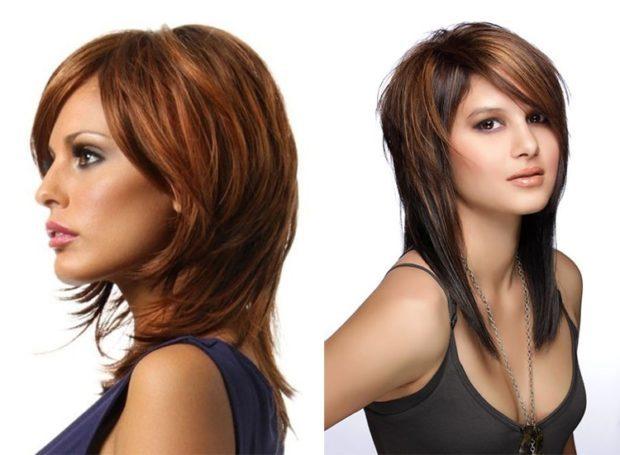 женские стрижки: гаврош классический с косой челкой