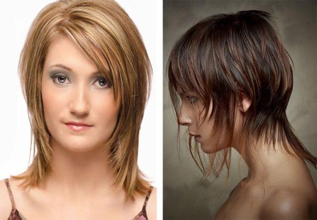 женские стрижки: гаврош с косой челкой