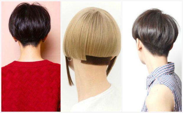 женские стрижки: шапочка на короткие волосы вид сзади