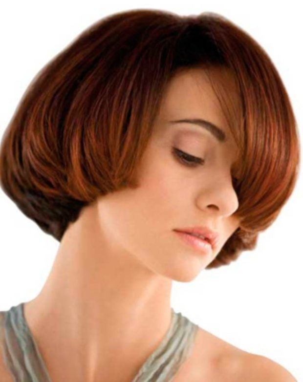 женская стрижка сессон на среднюю длину волос
