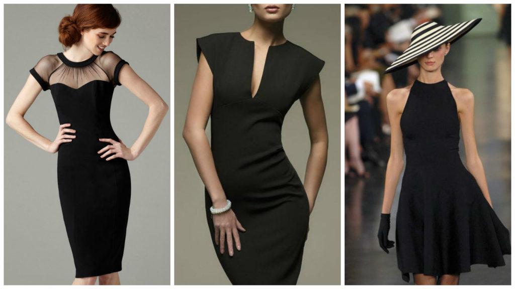 Мода в женской одежде - черные платья