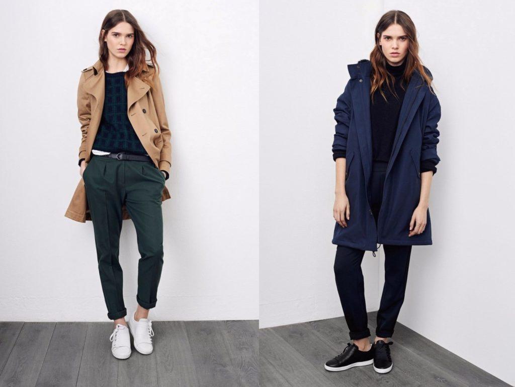 Мода в женской одежде - тренч коричневый синий