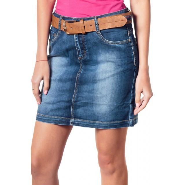 джинсовая юбка потертая