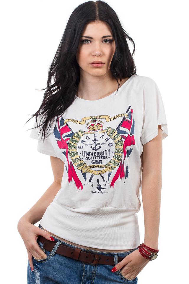 футболка белая с ярким рисунком